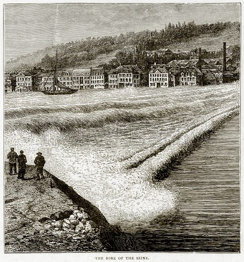 The Bore of the Seine. Illustration from Sea Pictures by James Macaulay (Religious Tract Society, c 1880).