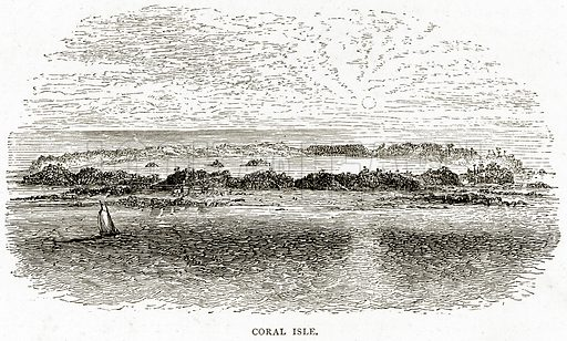 Coral Isle. Illustration from Sea Pictures by James Macaulay (Religious Tract Society, c 1880).
