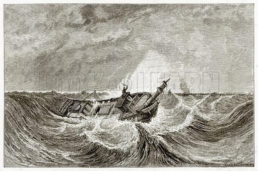Storm.  Illustration from Sea Pictures by James Macaulay (Religious Tract Society, c 1880).