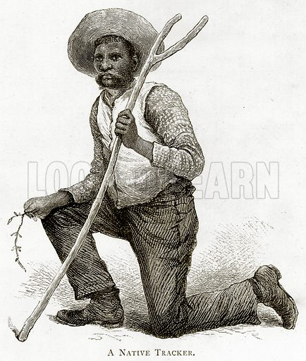 A Native Tracker. Illustration from Australian Pictures by Howard Willoughby (Religious Tract Society, c 1886).
