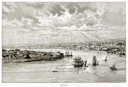 Brisbane. Illustration from Australian Pictures by Howard Willoughby (Religious Tract Society, c 1886).