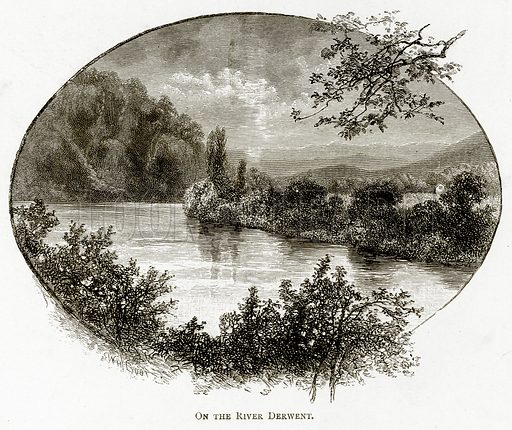 On the River Derwent. Illustration from Australian Pictures by Howard Willoughby (Religious Tract Society, c 1886).