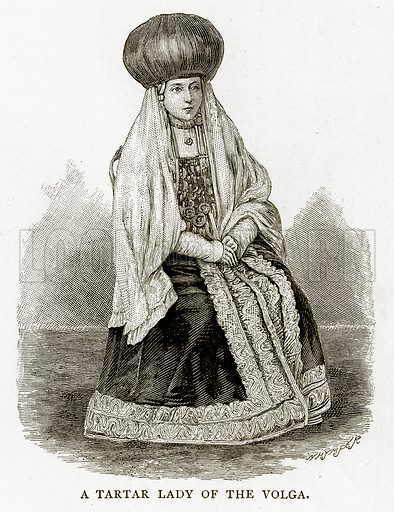 A Tartar Lady of the Volga. Illustration from Russian Pictures by Thomas Michell (Religious Tract Society, 1889).
