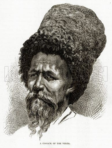 A Cossack of the Volga. Illustration from Russian Pictures by Thomas Michell (Religious Tract Society, 1889).