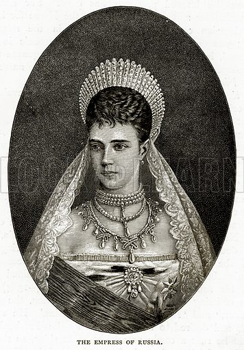 The Empress of Russia. Illustration from Russian Pictures by Thomas Michell (Religious Tract Society, 1889).