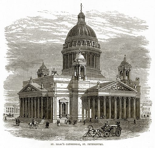 St Isaac's Cathedral, St Petersburg. Illustration from Russian Pictures by Thomas Michell (Religious Tract Society, 1889).