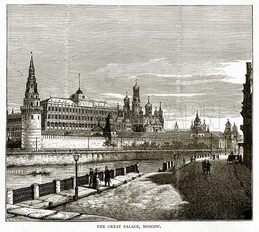 The Great Place, Moscow. Illustration from Russian Pictures by Thomas Michell (Religious Tract Society, 1889).