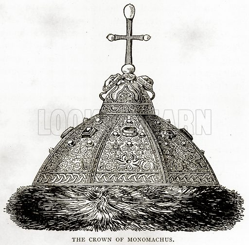 The Crown of Monomachus. Illustration from Russian Pictures by Thomas Michell (Religious Tract Society, 1889).