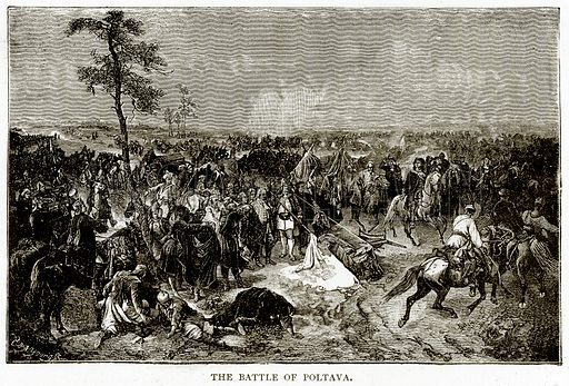 The Battle of Poltava. Illustration from Russian Pictures by Thomas Michell (Religious Tract Society, 1889).
