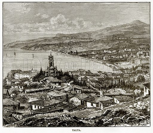 Yalta. Illustration from Russian Pictures by Thomas Michell (Religious Tract Society, 1889).