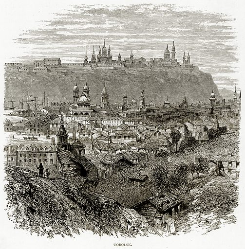 Tobolsk. Illustration from Russian Pictures by Thomas Michell (Religious Tract Society, 1889).