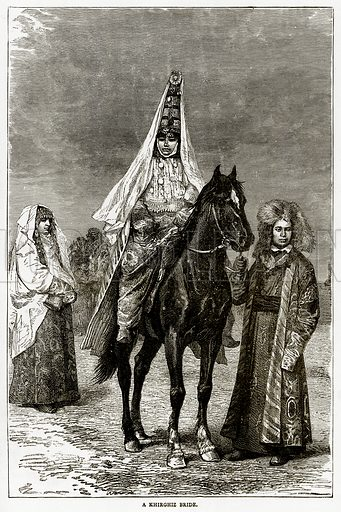 A Khirghiz Bride. Illustration from Russian Pictures by Thomas Michell (Religious Tract Society, 1889).