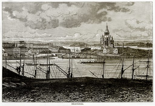 Helsingfors. Illustration from Russian Pictures by Thomas Michell (Religious Tract Society, 1889).