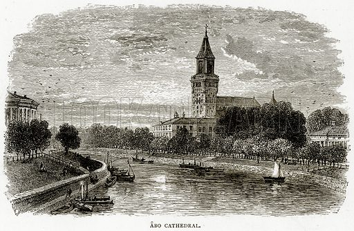 Abo Cathedral. Illustration from Russian Pictures by Thomas Michell (Religious Tract Society, 1889).
