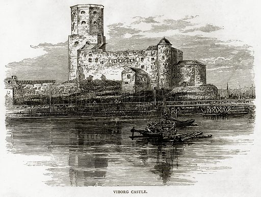 Viborg Castle. Illustration from Russian Pictures by Thomas Michell (Religious Tract Society, 1889).