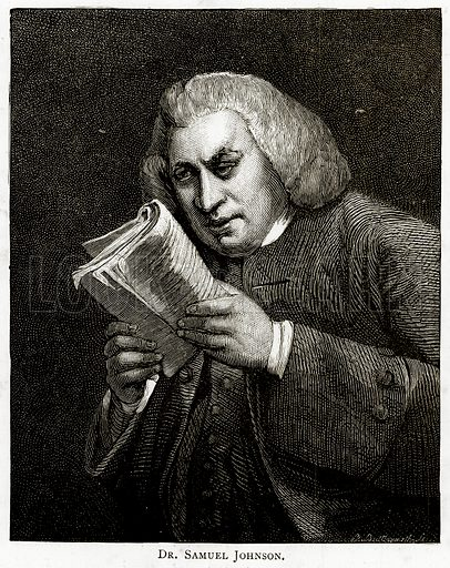 Dr Samuel Johnson. Illustration from London Pictures by Richard Lovett (Religious Tract Society, 1890).