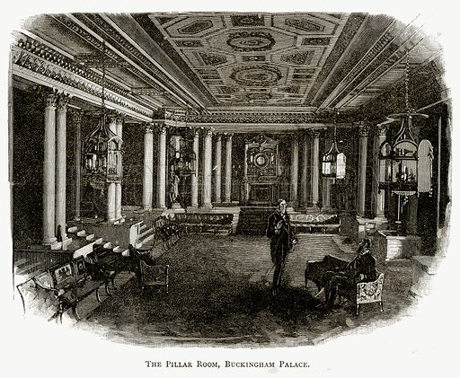 The Pillar Room, Buckingham Palace. Illustration from London Pictures by Richard Lovett (Religious Tract Society, 1890).