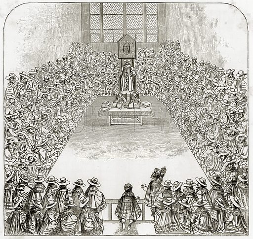 The House of Commons in the time of James I. Illustration from London Pictures by Richard Lovett (Religious Tract Society, 1890).