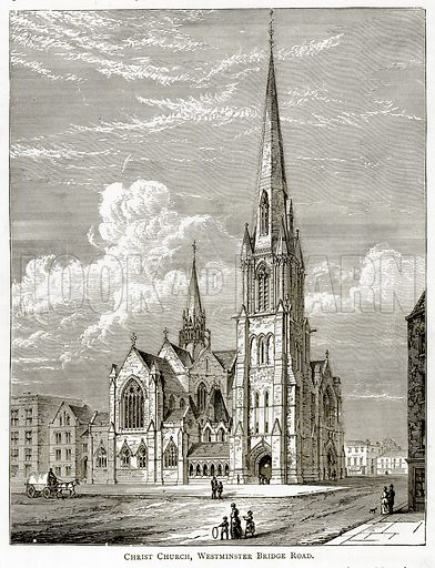 Christ Church, Wesminster Bridge Road. Illustration from London Pictures by Richard Lovett (Religious Tract Society, 1890).