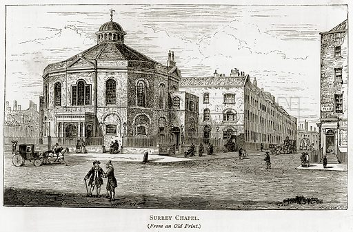 Surrey Chapel. Illustration from London Pictures by Richard Lovett (Religious Tract Society, 1890).