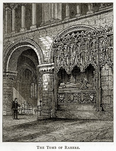 The Tomb of Rahere. Illustration from London Pictures by Richard Lovett (Religious Tract Society, 1890).