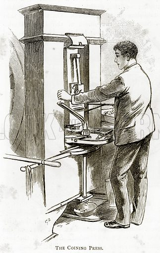 The Coining Press. Illustration from London Pictures by Richard Lovett (Religious Tract Society, 1890).