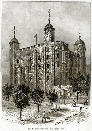 The White Tower from the South-East. Illustration from London Pictures by Richard Lovett (Religious Tract Society, 1890).