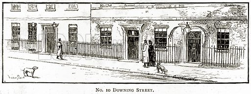 No 10 Downing Street. Illustration from London Pictures by Richard Lovett (Religious Tract Society, 1890).