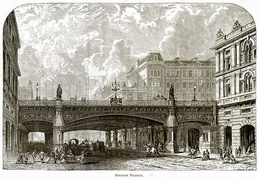 Holborn Viaduct. Illustration from London Pictures by Richard Lovett (Religious Tract Society, 1890).