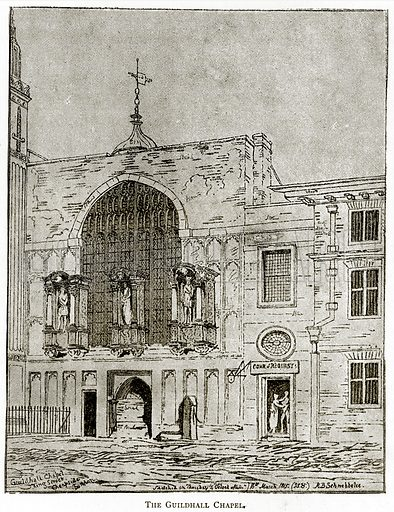 The Guildhall Chapel. Illustration from London Pictures by Richard Lovett (Religious Tract Society, 1890).