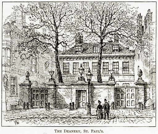 The Deanery, St Paul's. Illustration from London Pictures by Richard Lovett (Religious Tract Society, 1890).