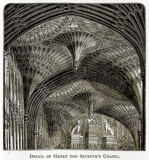 Detail of Henry the Seventh's Chapel. Illustration from London Pictures by Richard Lovett (Religious Tract Society, 1890).