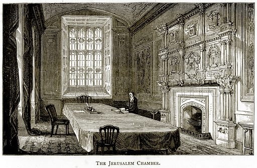 The Jerusalem Chamber. Illustration from London Pictures by Richard Lovett (Religious Tract Society, 1890).