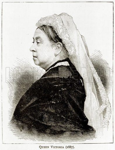 Queen Victoria (1887). Illustration from London Pictures by Richard Lovett (Religious Tract Society, 1890).