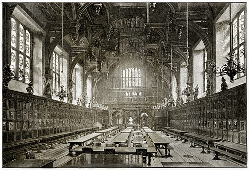 The Great Hall of the Middle Temple. Illustration from London Pictures by Richard Lovett (Religious Tract Society, 1890).