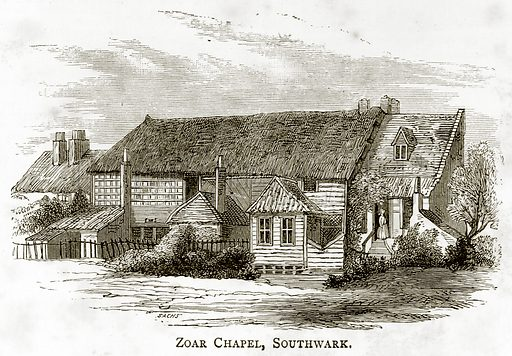 Zoar Chapel, Southwark. Illustration from London Pictures by Richard Lovett (Religious Tract Society, 1890).