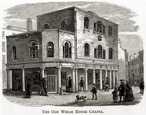 The Old Weigh House Chapel. Illustration from London Pictures by Richard Lovett (Religious Tract Society, 1890).