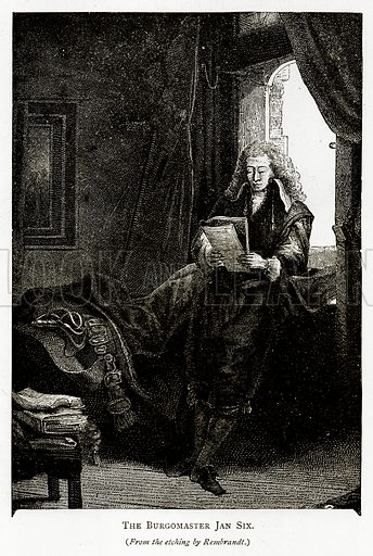 The Burgomaster Jan Six. Illustration from Pictures from Holland by Richard Lovett (Religious Tract Society, 1887).