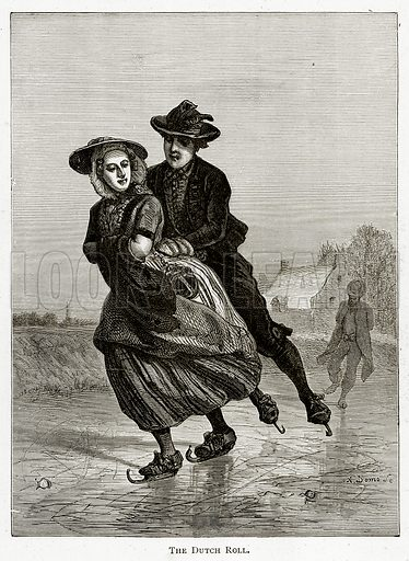 The Dutch Roll. Illustration from Pictures from Holland by Richard Lovett (Religious Tract Society, 1887).
