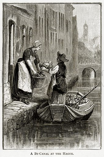 A By-Canal at the Hague. Illustration from Pictures from Holland by Richard Lovett (Religious Tract Society, 1887).