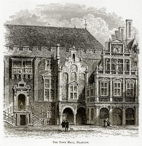 The Town Hall, Haarlem. Illustration from Pictures from Holland by Richard Lovett (Religious Tract Society, 1887).
