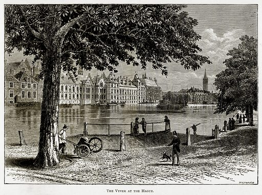 The Vyver at The Hague. Illustration from Pictures from Holland by Richard Lovett (Religious Tract Society, 1887).