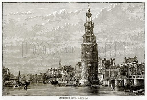 Montalbans Tower, Amsterdam. Illustration from Pictures from Holland by Richard Lovett (Religious Tract Society, 1887).