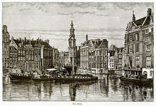 The Mint. Illustration from Pictures from Holland by Richard Lovett (Religious Tract Society, 1887).