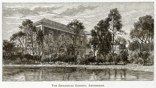 The Zoological Garden, Amsterdam. Illustration from Pictures from Holland by Richard Lovett (Religious Tract Society, 1887).