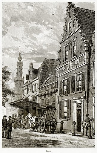 Edam. Illustration from Pictures from Holland by Richard Lovett (Religious Tract Society, 1887).