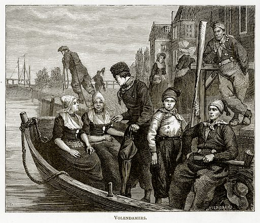 Volendamers. Illustration from Pictures from Holland by Richard Lovett (Religious Tract Society, 1887).