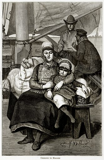 Crossing to Marken. Illustration from Pictures from Holland by Richard Lovett (Religious Tract Society, 1887).