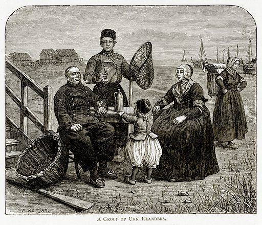 A Group of Urk Islanders. Illustration from Pictures from Holland by Richard Lovett (Religious Tract Society, 1887).