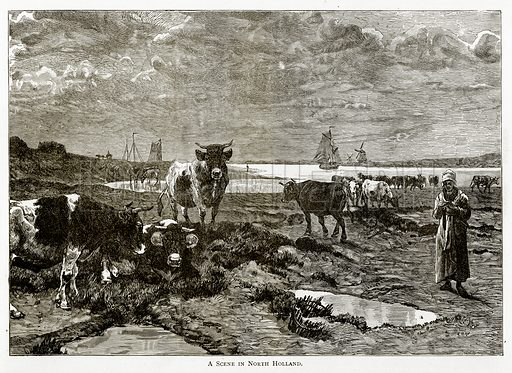 A Scene in North Holland. Illustration from Pictures from Holland by Richard Lovett (Religious Tract Society, 1887).